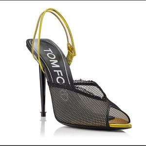 New collection Tom Ford mesh slingback pumps